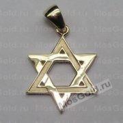 Кулон «Звезда Давида» (золото жёлтое)
