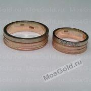 Обручальные кольца (золото красное, белое)