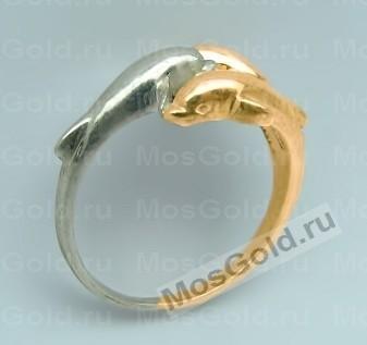 Кольцо с дельфинами