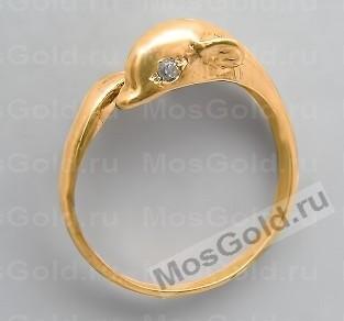 Кольцо с небольшим дельфином