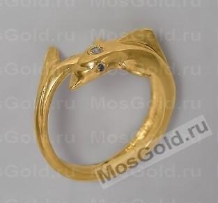 Кольцо с дельфином