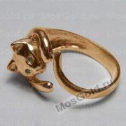 Кольцо с кошкой