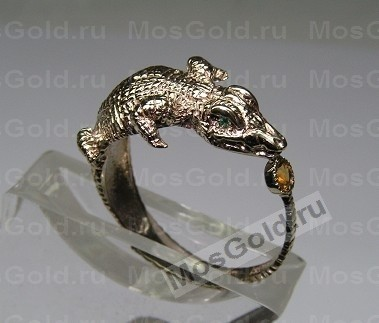 Кольцо с крокодилом