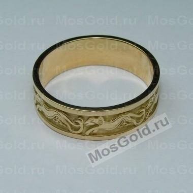 Золотое кольцо с овнами по кругу