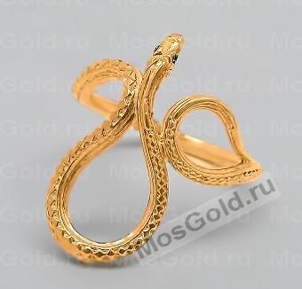 Золотое кольцо с небольшой змеёй