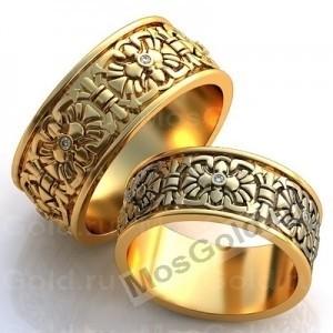 Обручальные кольца со скарабеями