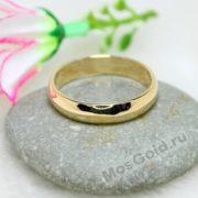 Классические обручальные кольца из золота