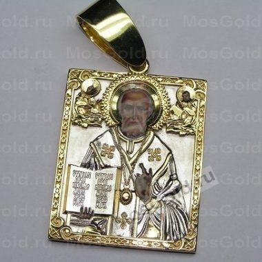 Золотая нательная иконка