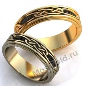 Вращающиеся обручальные кольца с узором