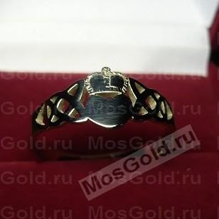 Кольцо кладдах из белого золота