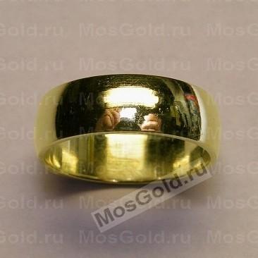 Широкие обручальные кольца из золота