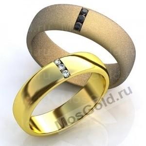 Обручальные кольца из золота с камнями