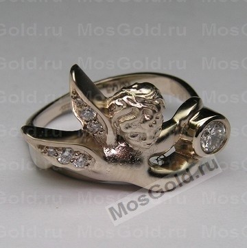Кольцо с ангелом