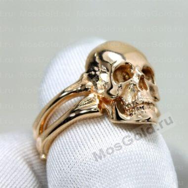 Кольцо череп