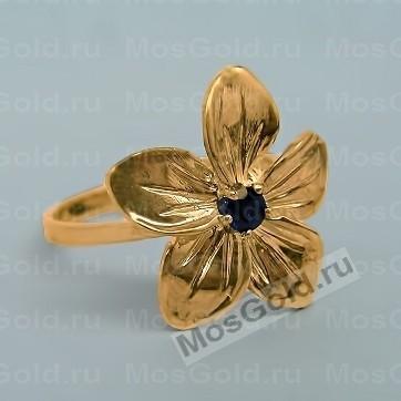 кольцо с бриллиантами в виде цветка