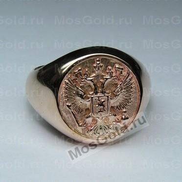 Мужской перстень круглый