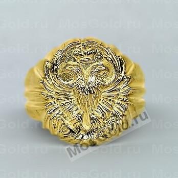 Кольцо с гербом России из жёлтого золота