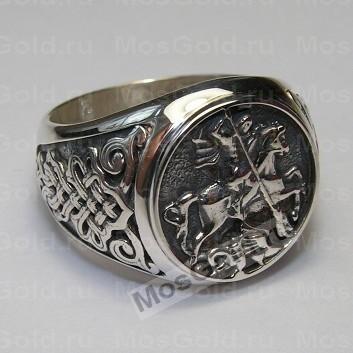 Перстень мужской Святой Георгий Победоносец