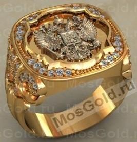 ювелирная мастерская: Перстень с двуглавым орлом и бриллиантами