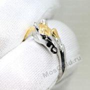 Кольцо с лошадкой из белого золота