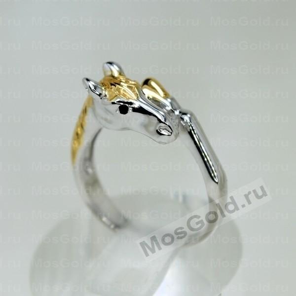 ювелирная мастерская: Кольцо с лошадкой из белого золота