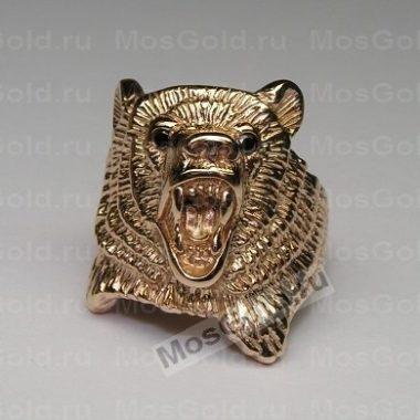 Мужское кольцо медведь