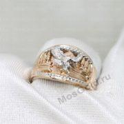 Мужское кольцо с орлом белое золото 585