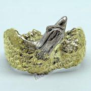 Кольцо с орлом из жёлтого золота