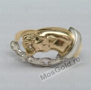 Кольцо пантера с ошейником