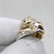 Кольцо Cartier с пантерой и бриллиантами