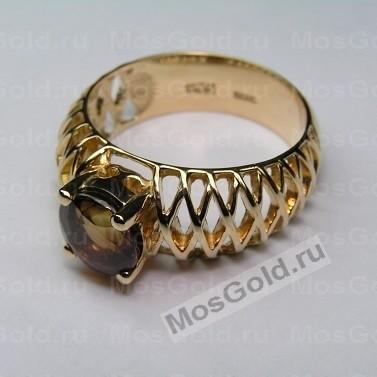 Золотое плетёное кольцо