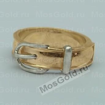 Мужское кольцо ремень из золота