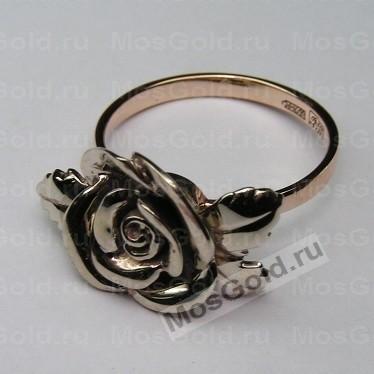 Кольцо с розой