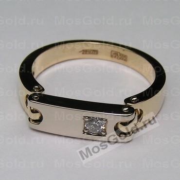 ювелирная мастерская: Кольцо с подвижной пластиной и бриллиантом