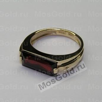 Мужское кольцо с гранатом