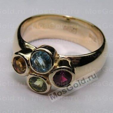 Кольцо с разными камнями