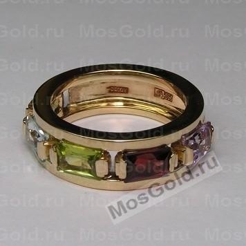 Золотое кольцо с камнями