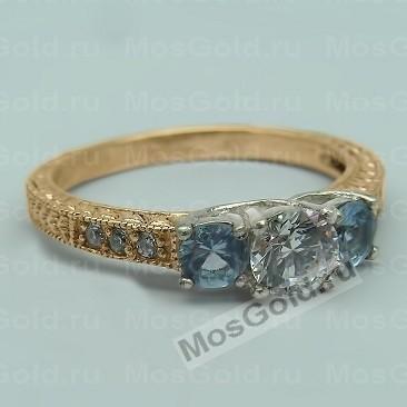 Женское кольцо с топазами