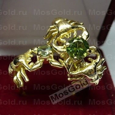 Кольцо скорпион из золота