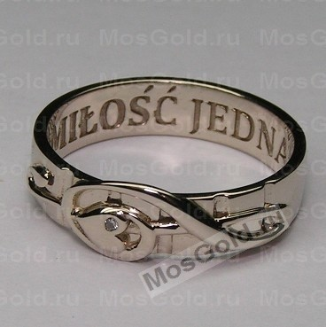 кольцо скрипичный ключ