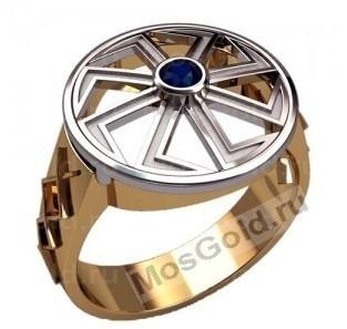 Мужское кольцо коловрат
