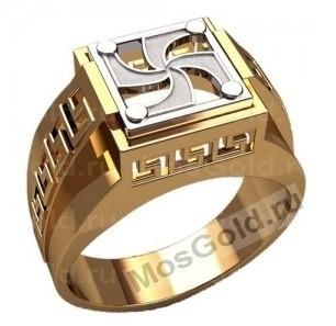 Кольцо Символ Рода золото