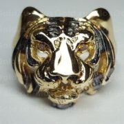 Золотое кольцо с тигром