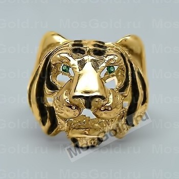 Кольцо голова тигра
