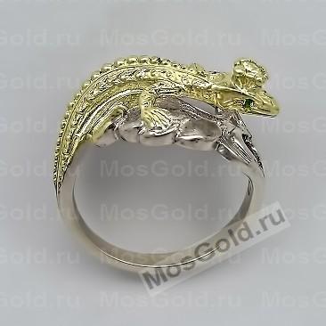 Кольцо с ящерицей и короной