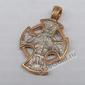 Крестик «Господь Вседержитель» из золота