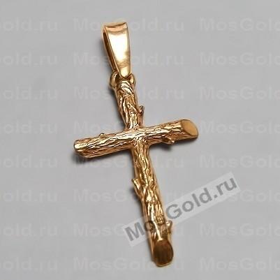 Золотой крестик в виде веточек