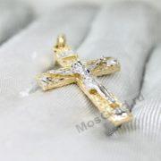 Золотой крестик стилизованный под дерево