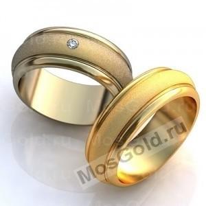 Обручальные кольца с матовой серединой