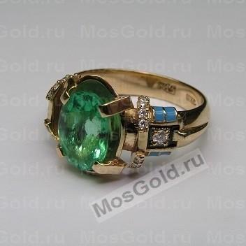 Перстень с изумрудом